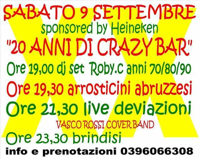 20 anni Crazy bar