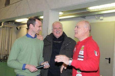 A sinistra Guido Brambilla, presidente Basket Concorezzo
