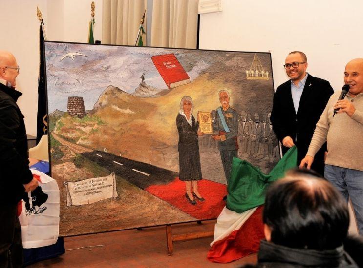 Un murales per ricordare il Nobel alla Deledda