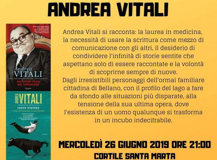 Che meraviglia, Andrea Vitali a Concorezzo